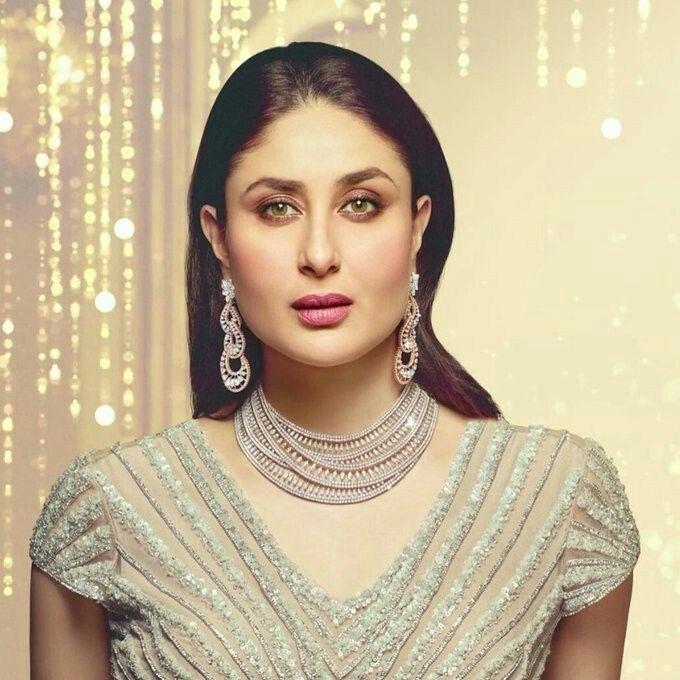 Kareena in white gold jewellery