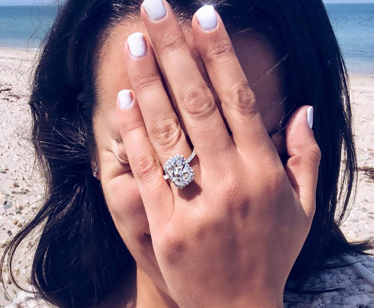 Woman in platinum ring
