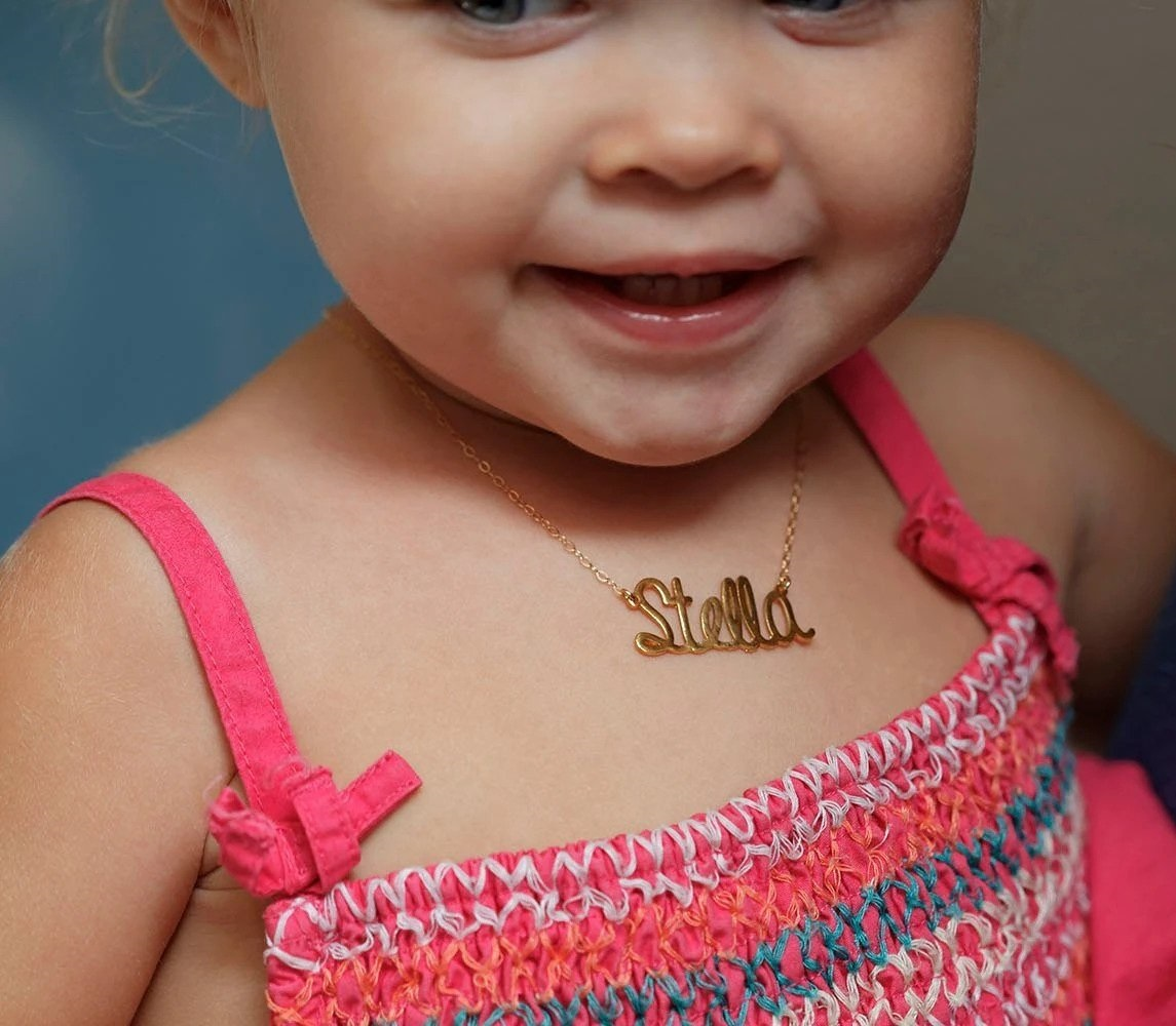 Baby in kids necklace
