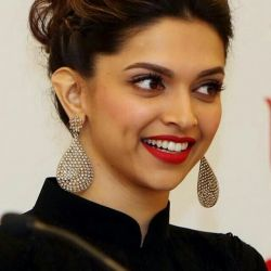 Deepika in drop earring designs