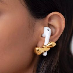 Jewellery designer creates earrings to hold Apple Airpods