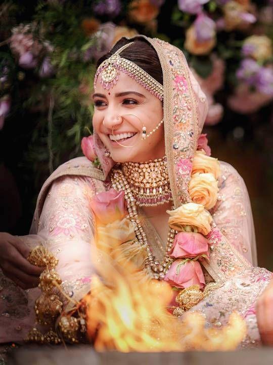 Anushka Sharma in wedding jewellery
